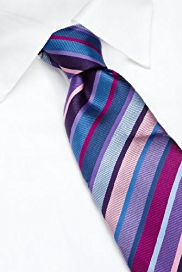 Longer Length Collezione Sartorial Pure Silk Striped Tie
