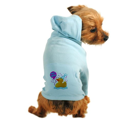 Cafepress Rubber Duck Toy Dog Hoodie - M Light Blue [Misc.]