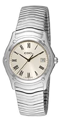 Ebel Men's 9255F41/6125 Classic Silver Roman Numeral Dial Watch from Ebel