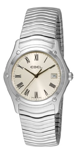 Ebel Classic 1215437 Stainless Steel Mens Watch Silver Dial Calendar Quartz 9255F41/6125