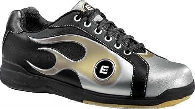 Buy Etonic Black Gold Silver Flame Mens Bowling Shoes by Etonic