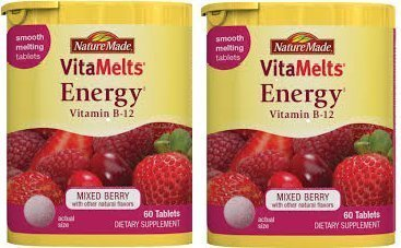 Pack of 2, Nature Made VitaMelts Energy Vitamin-B12. by Nature Made Nutritional Products (Nature Made Vitamelts Energy compare prices)