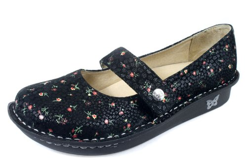 Alegria Women's Feliz Mary Jane Shoes Black Ditzy Size 40
