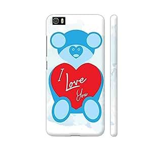 Colorpur Teddy Bear On Blue Designer Mobile Phone Case Back Cover For Xiaomi Mi 5   Artist: Designer Chennai