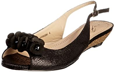 Lunar Womens Espadrille Flats FLH086 Black 3 UK, 36 EU