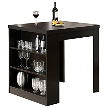 Monarch Specialties Cappuccino Hollow-core 32-Inch by 36-Inch Counter Height Table