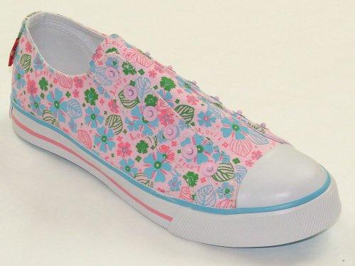 LEVI'S Girls FOXIE Slipon Pink Floral Canvas