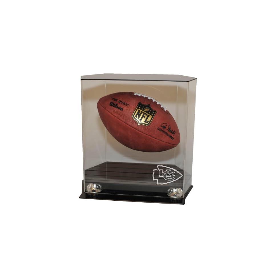Kansas City Chiefs Floating Football Display Case   Acrylic Football Display Cases