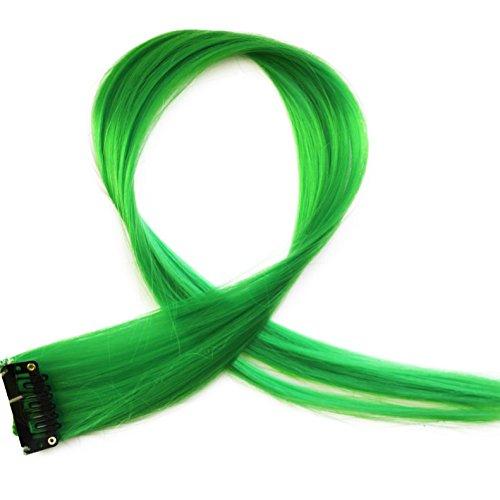 """Bunte Strähnchen 1 x Clip In Extensions 50cm (20"""") Haarverlängerung glatt langhaarHaarteil (10)"""