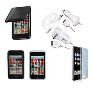 Apple Premium Essential Accessory Bundle for iPod Touch 3G with Cases, Chargers, Data Cable and Screen Protector