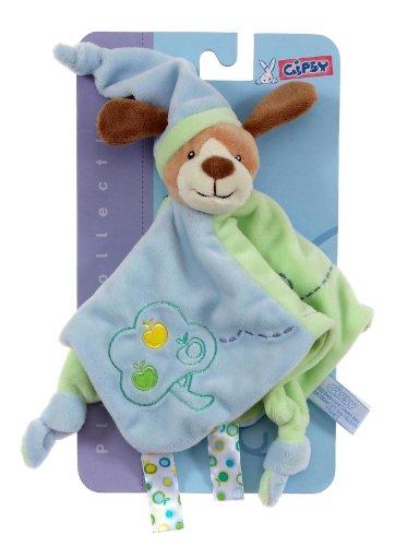 Gipsy 070121 - Copertina doudou cagnolino, 26 cm, colore: Verde e azzurro