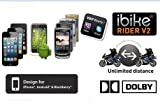 iBike Rider® V2 headset kits with microphone in helmet motorcycle/skiing compatibility with VoIP.