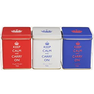 Mini Tea Tin Set - Funky Kitchen Accessories - Set of 3 Funky Tins