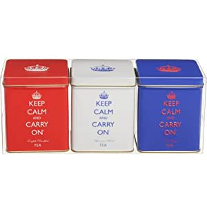 Mini tea tin set funky kitchen accessories set of 3 for Funky kitchen accessories uk