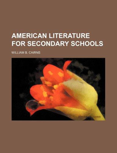 American literature for secondary schools
