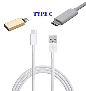 TYPE C To USB Data Cable For Motorola Moto Z Play With TYPE C OTG Connector (COMBO OFFER)