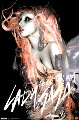 Lady Gaga Born This Way Music Poster Print - 22x34 Music Poster Print, 22x34