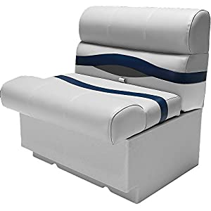 "DeckMate® 28"" Pontoon Boat Seat (Gray, Blue & Charcoal)"