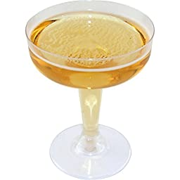 Disposable Champagne Glasses - 4 oz.: Case of 500
