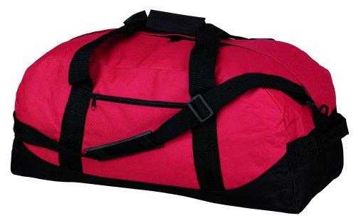 Lässig-elegante Reisetasche, 045, Farbe: Rot/Schwarz,