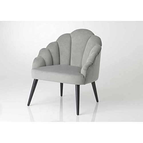 Fauteuil gris coquillage - chauffeuse