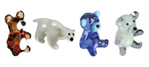 Looking Glass Miniature Collectible - Bears (4-Pack)