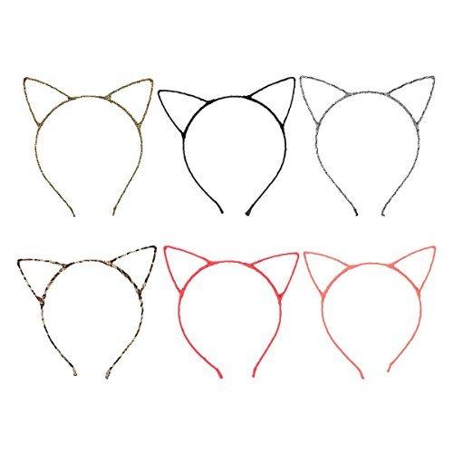 Acelist [Party Stars] Glitter Cracked Pattern Hair Band Fashion Headband Hair Hoop Fashionable Cat Ear by ACELIST