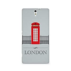 Ebby London Phone Booth Premium Printed Case For Sony Xperia C5