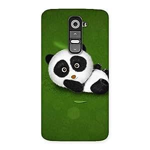 Premium Panda Green Grass Back Case Cover for LG G2