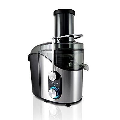 NutriChef High Power Juice Extractor, Juicer 800 Watt, Stainless Steel