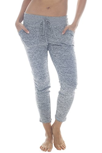 90 Degree By Reflex - Yoga Lounge Pants - Loungewear and Activewear - Heather Grey Medium