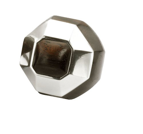 The Branch Rosewood And Sterling Silver Ring With Heptagon Shaped Detail - Small