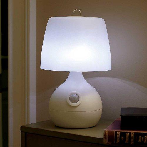 8 Led Motion Sensor Table Lamp - White - Improvements