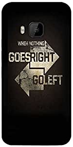 Snoogg Go Right Go Left Designer Protective Back Case Cover For HTC M9