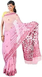 knool Women's Georgette Saree With Unstitched Blouse Piece (Lavender) (CGSF02)