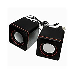 Storite Top Quality Multimedia Mini Speaker System 2.0 Channel - Powered by USB 2.0 and 3.5mm Jack for Sound Output