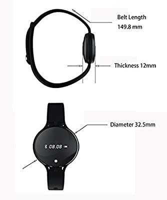 DAEON® Updated Messenger NFC Fitness Activity Tracker Wristband, Message Pushing for Phone Call, System and APP, OLED Screen Smart Bracelet, Cellphone Finding and Loss Prevention