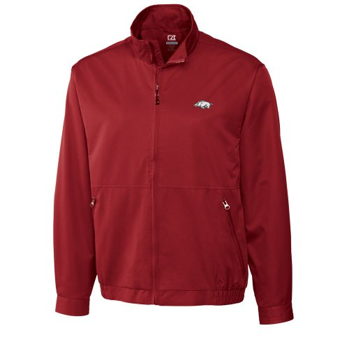 NCAA Men's Arkansas Razorbacks Cardinal Red Weathertec Whidbey Jacket, X-Large at Amazon.com