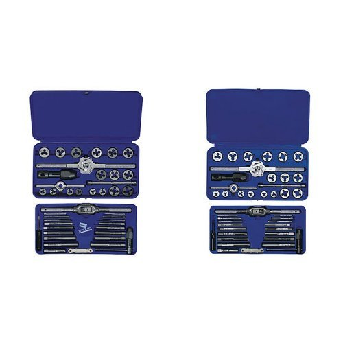 IRWIN Tools Metric Tap and Hex Die Set and Machine Screw with Fractional Tap and Die Set