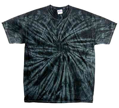 Tie Dye SPIDER BLACK Retro Vintage Groovy Youth Kids Tee Shirt T-Shirt