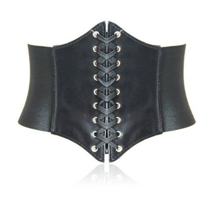 HOTER® Lace-up Corset Style Elastic Cinch Belt