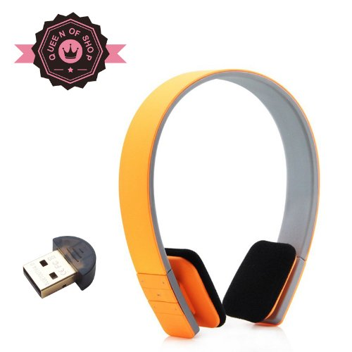 Queen Lc8200 Sponge Yellow Bluetooth 3.0 Stereo Foldable Headphones Headset With Aac Aptx - Supports Wireless Music Streaming And Hands-Free Calling