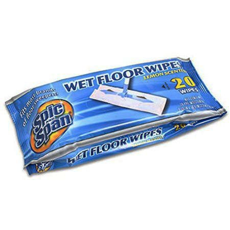household-mall-866-inch-spic-and-span-lemon-scented-wet-floor-wipes-package-of-20pcs