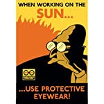 Futurama Rocket USA Tin Cubicle Sign When Working On The Sun