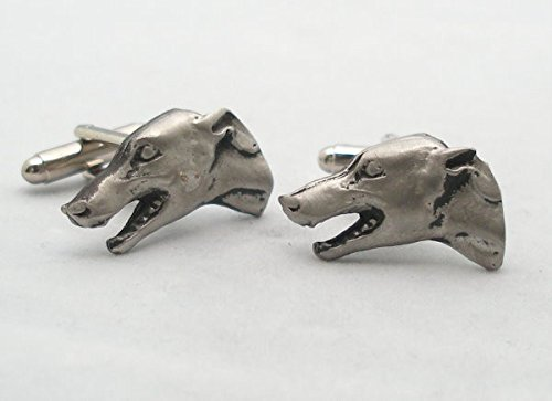 Solid Pewter Greyhound Cufflinks With Gift Box