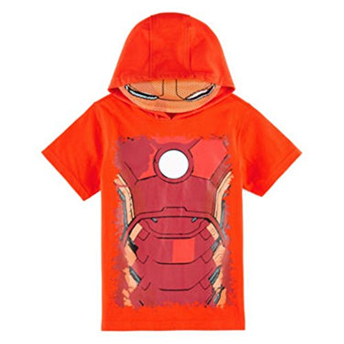 Marvel Little Boys' Iron Man Costume Tee with Hood and Mask