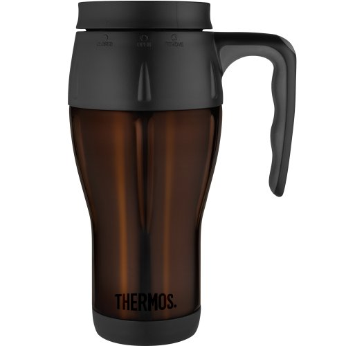 Thermos Stainless Steel Travel Mug, 20-Ounce, Espresso front-839782