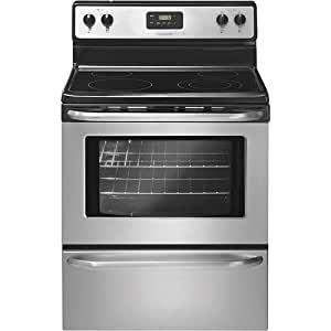 "Frigidaire FFEF3043LS 30"" Freestanding Electric Range with Ready-Select Controls and SpaceWise Expanda, Stainless Steel"