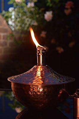 Roma - Copper Garden Oil Lantern - Outdoor Lighting Oil Lamp - Wedding Gift Valentines - 18 X 18 X 1650 Cm from Za Za Homes