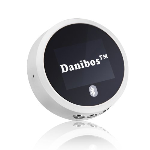 Danibos Nfc-Enabled Bluetooth Audio Receiver With Aptx Technology For Home Stereo For Car (White)